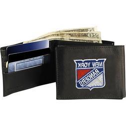 NHL New York Rangers Embroidered Genuine Leather Billfold Wa