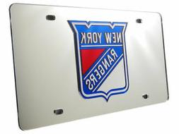 NHL New York Rangers Laser Cut Auto Tag, Silver