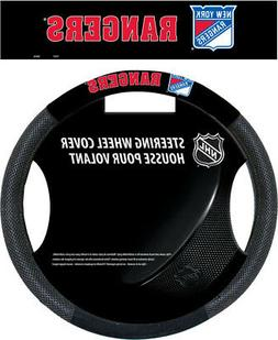 NHL New York Rangers Poly-Suede Steering Wheel Cover