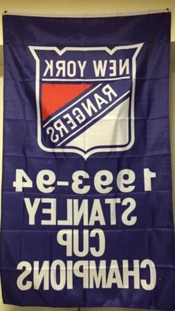 NHL New York Rangers 1993-1994 Stanley Cup Champions Banner