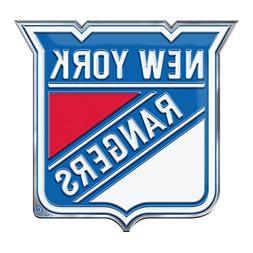 NHL New York Rangers Color Auto Emblem, One Size, One Color