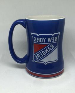 NHL NEW YORK RANGERS BLUE 15 Oz. CERAMIC COFFEE MUG