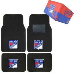 NHL New York Rangers Car Truck Carpet Floor Mats & Synthetic