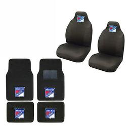 NHL New York Rangers Car Truck Seat Covers & Front Back Carp