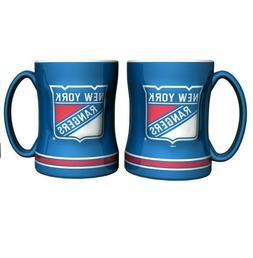 New York Rangers 14oz Sculpted Relief Coffee Mug NHL - Boelt