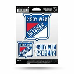 Rico NHL New York Rangers Die Cut 3-Piece Triple Spirit Stic