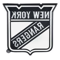 Fanmats NHL New York Rangers Diecast 3D Chrome Emblem Car Tr