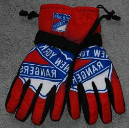 NHL New York Rangers Gloves Gradient Big Logo Insulated Wint