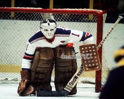 NHL New York Rangers Goalie Ed Eddie Giacomin Game Action Co