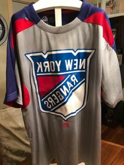 NHL New York Rangers Large T-Shirt Boy's Youth By Majestic