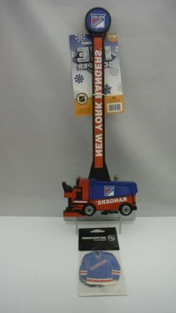 NHL New York Rangers Logo Hockey Zamboni Ice Scraper & Air F