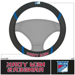 Fanmats NHL New York Rangers New Embroidered Steering Wheel