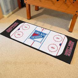 FANMATS NHL New York Rangers Nylon Face Football Field Runne