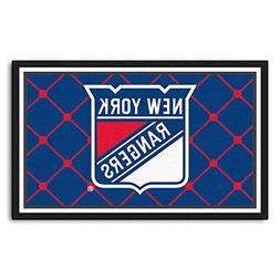 FANMATS NHL New York Rangers Nylon Face 5X8 Plush Rug