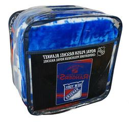 "NHL New York Rangers Stamp Plush Raschel Blanket, 60"" x 80"","
