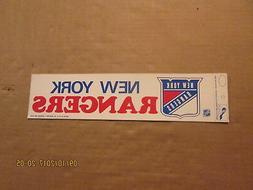 NHL New York Rangers Vintage Circa 1980's Logo Hockey Bumper