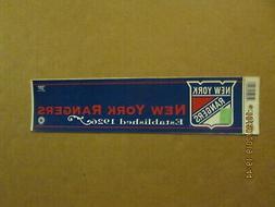 NHL New York Rangers Vintage Established 1926 Team Logo Hock