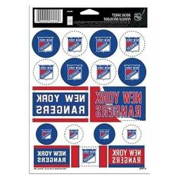 "NHL New York Rangers Vinyl Sticker Sheet, 8.5"" x 11"""