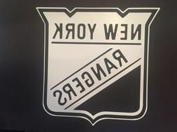 NHL NEW YORK RANGERS WHITE VINYL STICKER / DECAL