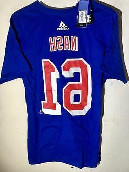 adidas  NHL T-Shirt New York Rangers Rick Nash Blue sz XL