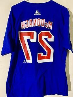 adidas  NHL T-Shirt New York Rangers Ryan McDonagh Blue sz X
