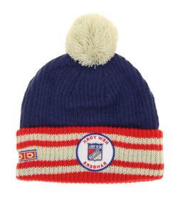CCM NHL Youth Boys New York Rangers Watch Cuffed Knit Hat wi