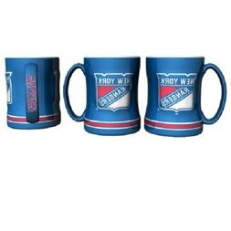NY New York Rangers Coffee Mug Relief Sculpted Team Color Lo
