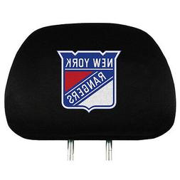 Pair of New York Rangers Head Rest Covers NEW! NHL Truck Car