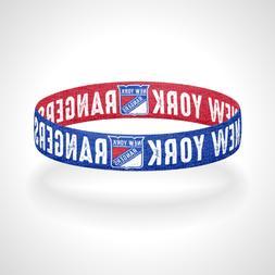 Reversible New York Rangers Bracelet Wristband Broadway Blue