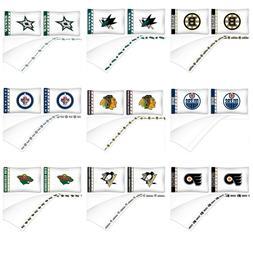 NHL Sheet Set - Hockey Sports Bedding League Team Logo Bedro