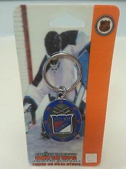 Sport Pewter Enamel Key Ring, New York Rangers NHL 2003, New