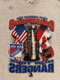 VTG Starter NWOT New York Rangers 1994 Stanley Cup Champs Ts