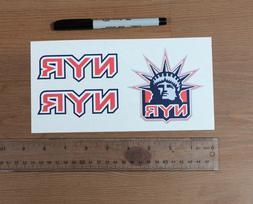 """x3 NYR New York Rangers NHL Decals/Vinyl Sticker - 4"""" Each"""